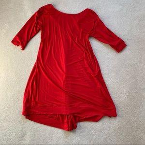 Red Three Dots Dress